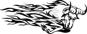 Stier Flamme - Vektor-Clipart EPS