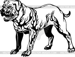 Hund Flamme - Vector Clip Art