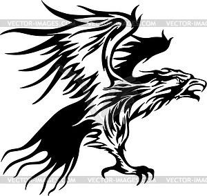 Adler Flamme - vektorisiertes Clipart