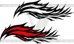 Flammentattoo - Vektorgrafik-Design