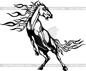 Pferd Flamme - Clipart-Bild