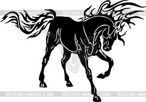 Pferd Flamme - Vektor-Skizze