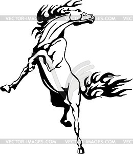 Pferd Flamme - Royalty-Free Clipart
