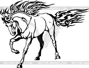 Pferd Flamme - Stock Vektor-Bild
