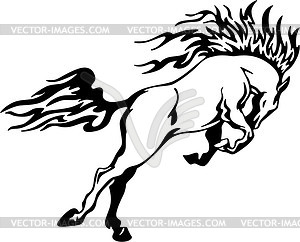 Pferd Flamme - Stock Vektorgrafik