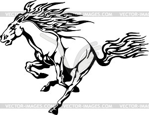 Pferd Flamme - Stock-Clipart