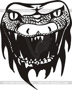 Schlangenkopf Tattoo - Vektorgrafik
