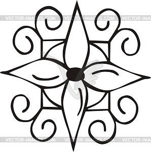 Dingbat - schwarzweiße Vektorgrafik