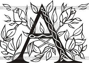 Großbuchstaben A - Vector Clip Art