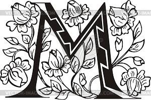 Großbuchstaben M - Vektor-Clipart / Vektorgrafik