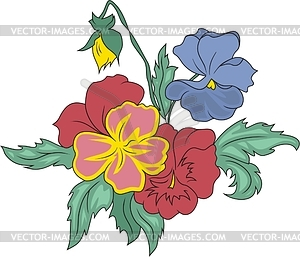 Pansy - vector clipart