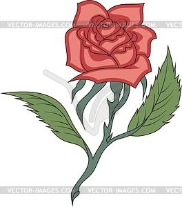 Rote Rose - Vektor-Klipart