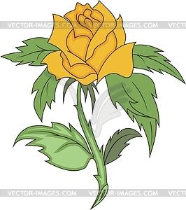 Gelbe Rose - Vektorgrafik-Design
