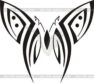 Symmetrischer Schmetterling - Vinyl-Ready Vektor-Clipart