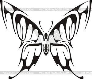 Symmetrischer Schmetterling - vektorisierte Grafik