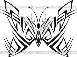 Symmetrischer Schmetterling - Vector Clip Art