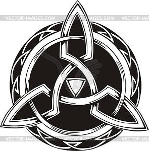 Keltische Knote - schwarzweiße Vektorgrafik
