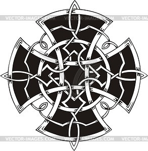 Keltisches Knotenkreuz - Vektorgrafik