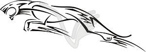 Leopard Flamme - Vektorgrafik
