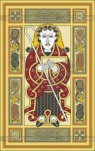 Hl. Matthäus Evangelist (Mac Durnan Ev.) - Vektorgrafik