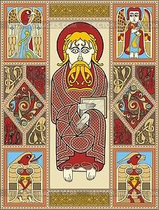 Hl. Markus Evangelist (Codex St. Gallen) - Vektorgrafik