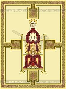 Hl. Matthäus Evangelist (Echternach Ev.) - Vektorgrafik