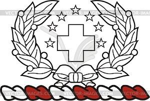 Helmzier von U.S. Medical Corps - Vektorgrafik