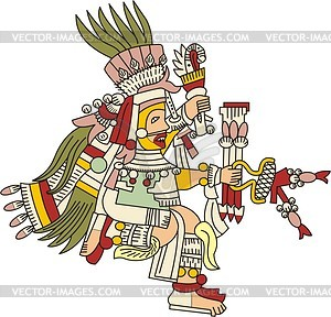 Mixcoatl - aztekischer Gott der Jagd - Vektorgrafik