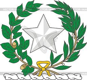 Helmzier von Texas - Royalty-Free Clipart