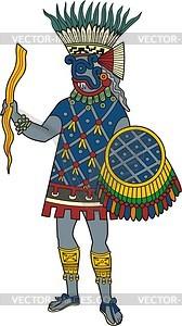Aztekische Regengottheit Tlaloc - Vektorgrafik