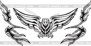 Symmetrisch Vogel Flamme - Vektorgrafik