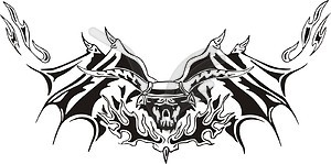 Symmetrische Stier Flamme - Vektorgrafik