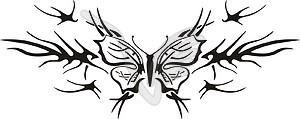 Symmetrisches Schmetterling Tattoo - Vector Clip Art