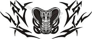 Symmetrisches Kora Tattoo - Vektorgrafik