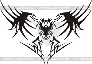 Symmetrisches Adler Tattoo - Vector-Clipart EPS