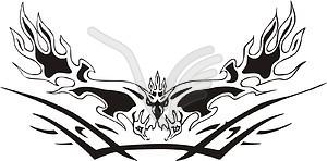 Symmetrischer Adler Flamme - Vektorgrafik