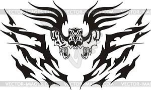 Symmetrisches Adler Tattoo - Vektor-Klipart