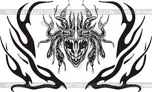 Symmetrische Meduse Flamme - Vektorgrafik