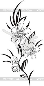 Flower tattoo - vector clipart