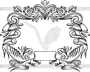 Dekorativer Kranz - Clipart
