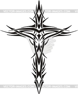 Best Tribal Cross Clipart
