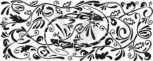 Eidechse ornamentales Muster - Vektorgrafik