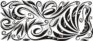 Pfau ornamentales Muster - Vektor-Illustration