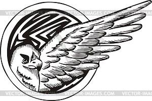 Rundes Adler Tattoo - Vektorgrafik