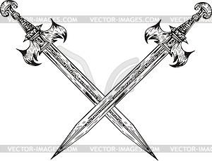 Gekreuzte Schwertern - Vektor-Clipart EPS