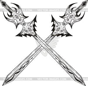 Gekreuzte Schwertern - Vector-Clipart EPS