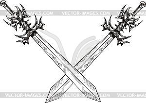 Gekreuzte Schwertern - Vektor-Klipart