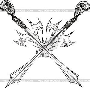 Gekreuzte Schwertern - Vector Clip Art