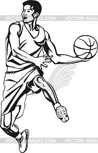 Basketball-Spieler - Vinyl-Ready Vektor-Clipart