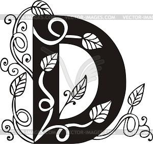 Großbuchstaben D - Royalty-Free Vektor-Clipart
